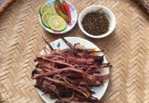 thịt gác bếp ẩm thực tây bắc