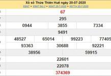 Dự đoán XSTTH 27/7/2020 - KQXS Thừa Thiên Huế thứ 2