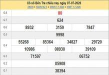 Dự đoán xổ sô Bến Tre 14-07-2020