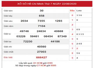 Dự đoán KQXSHCM- xổ số hồ chí minh thứ 2 ngày 24/08 hôm nay