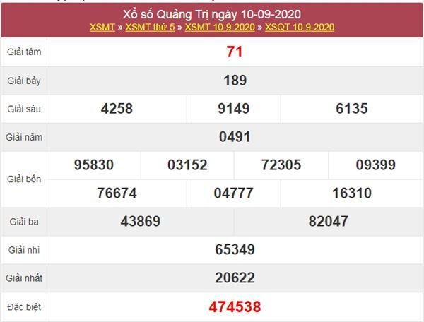 Dự đoán XSQT 17/9/2020 chốt KQXS Quảng Trị thứ 5