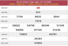 Tổng hợp dự đoán KQXSDT ngày 26/10/2020 - xổ số đồng tháp