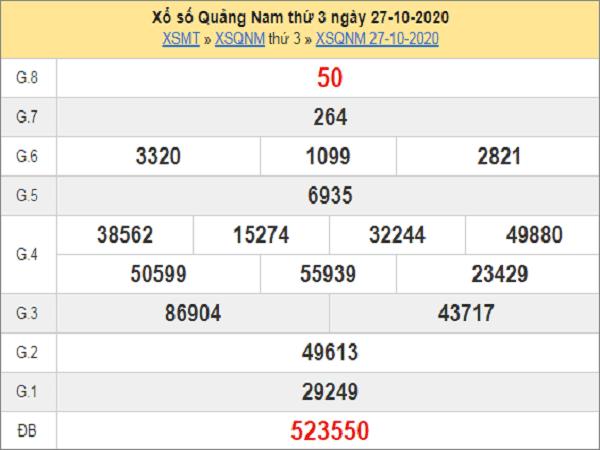 Tổng hợp dự đoán KQXSQN ngày 03/11/2020- xổ số quảng nam