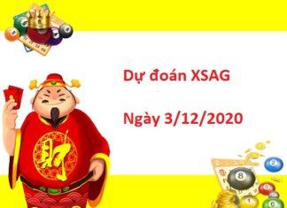 Dự đoán XSAG 3/12/2020
