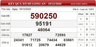 Tổng hợp dự đoán KQXSLA ngày 26/12/2020- xổ số long an
