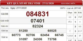 Tổng hợp dự đoán XSTV ngày 04/12/2020- xổ số trà vinh