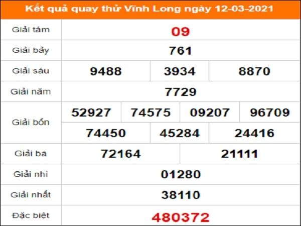 Quay thử kết quả xổ số tỉnh Vĩnh Long ngày 12/3/2021