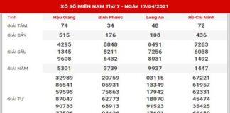 Dự đoán XSMN ngày 24/4/2021 - Thống kê kết quả SXMN thứ 7
