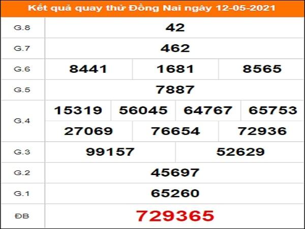 Quay thử Đồng Nai ngày 12/5/2021 thứ 4